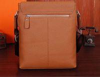 2014 casual men's solid genuine leather messenger bag NO.6605-4