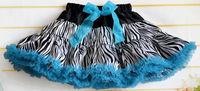Yixin Children'S Clothing Kids Baby Pettiskirts With Chiffon Ruffles Fashion Zebra Design Multi Color Girls Tutu Skirts