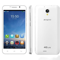 Original Phone ZOPO ZP320 MTK6582 4G LTE Mobile Phone Quad Core 1.3GHz 5.0 inch 960X540 IPS Screen 1GB RAM 8GB ROM 8MP GPS-white