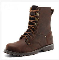 2014 Autumn & Winter Men's Genuine Leather martin boots Cowboy motorcycle boots outdoor fashion men military botas