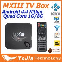 Original MXIII Android 4.4 Amlogic S802 Quad-Core MXIII TV BOX 1GB/8GB Google Android TV Box MX3 Support OTA