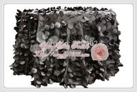free shipping new desgin black  taffeta coin round table cloth for weddings decoration