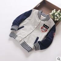 new 2014 autumn winter children boy fashion sport casual coat & jacket kids boys designer letter baseball outerwear clothes