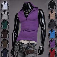 2014 New Mens Sport T-Shirts Weste Undershirt Spaghetti Strap Tank Tops Slim Bodybuilding Man Hoodie Muscle Vest M L XL XXL