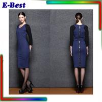 Autumn winter dress 2 colors plus size XXL women clothes good quality vestidos desigual work party dress long pencil dress sexy