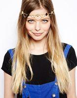 Fashion gauze chain hair accessory europe fashion trend star style metal hairpin hair bands 5pcs/lot