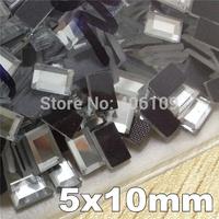 [Order 2 Packs Get 15% off ]Hotfix 5X10MM 288Pcs/Lot Rectangle Rectangular Crystal Color DMC Flatback iron On Crystal Rhinestone