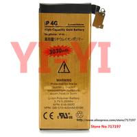 "Hot sales,Free shipping,3.7V Nominal ""3030mAh"" Actual Capacity 2000mAh Dual-cell Li-ion Battery for Iphone 4G"