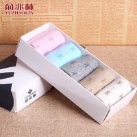Elegant women's socks 5 pairs/gift box multi-colors sets fresh style of dynamism Cotton socks Girl socks High quality low price