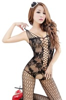 BeautyWill Sexy Women Full Body Open Crotch FishNet Lingerie Tights Pantyhose Stockings