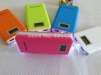14000mAh 18650 battery pack universal power bank external cellphone battery charger LCD Screen display dual usb power bank 30pcs