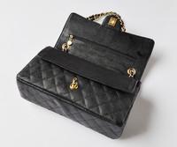 2014 new jumbo bag caviar luxury purse handbag genuine leather new fashion wholesale and retail brand women design chain