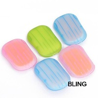12pcs/lot Small Portable Hand-Washing Creative Tourism Portable Toilet Soap Slice Clean Paper Soap Free CN Post Shipping