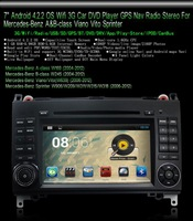 "7"" Android 4.2.2 OS Wifi 3G CAR DVD Player with CAN BUS GPS Map(The Custom ) For Mercedes-benz Free Shipping"
