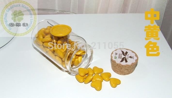 Eco-friendly heart shaped block sealing wax grain/Yellow heart shaped block sealing wax grain(China (Mainland))