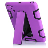 For iPad mini  3 in 1 Defendered Hybrid Rubber Rugged Combo Matte Anti-shock Shockproof  Stand Holder Case Hard Cover