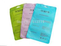 Colorful Self Seal Plastic Retail Packaging Packing Poly pp Bag, Zip Lock Hang Hole Package Bag