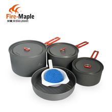 Огонь клен 4-5 огонь клен комплект для праздника 5 пан открытый пот комплект портативный кемпинг посуда открытый посуда горшок