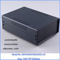 (1  )150x70x200 mm industrial case electronics enclosure diy iron box for electronics box enclosures electronic metal box