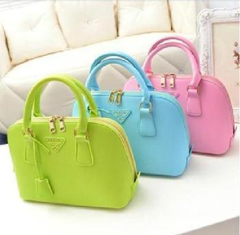 Бесплатная доставка 2014 Prado New Designer Малый Конфеты цвет Женщины посланник сумки женские кожаные женские сумки женщин ребенком мешок