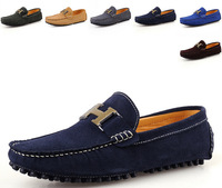 New 2014 men sneakers Driving Shoe Male breathable fashion casual genuine leather boat shoes men single loafers men shoes