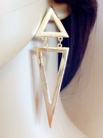 2014 New Fashion exaggerated punk rock  hollow big triangle dangle earrings,high quallity earring branded  Jewelry for women