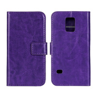 100Pcs/Lot Crazy Horse Wallet Leather Case Cover with Stand For Samsung Galaxy S5 Mini