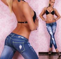 New Women Sexy Tattoo Jean Look Legging Sport Leggins Punk Fitness American Apparel Jeans Woman Pants 9047