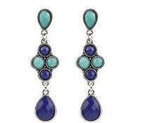 Women's Classic Luxury Large Pendant Earring - Blue