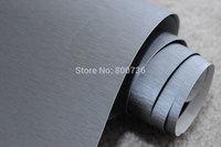 free shipping 152x30CM air free bubbles light grey aluminium vinyl sticker/brushed aluminium car wrap vinyl film