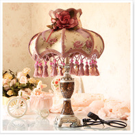 Fashion bedroom lamp bed-lighting fabric decoration vintage lamps luxury quality rustic table lamp