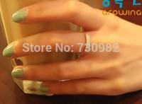 pure 14k yellow gold ring adjustable   small shinning line    birthday romantic gift beautiful wearing free shipping