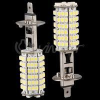 H1 LED 120 SMD LED white fog beam/driving parking light lamp bulbs