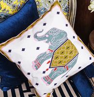 Elephant pattern embroidered cushions embroidered cushion sofa cushion, free shipping! / wdx643