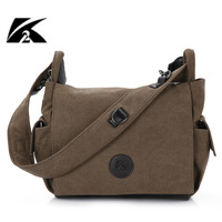 100% cotton canvas bag men and women shoulder bag horizontal messenger bag student school bag