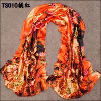 160cm*50cm New Fashion Women Autumn -Summer Imitated Silk Scarf Lady Winter Warm Scarf  Wrap Shawl Print Patterns Girl Scarves