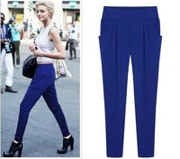 New 2014 Fashion Style Women OL Girls Casual Candy Color Harem Pants Classic Plus Size Women's Pants Women Trousers XL-6XL