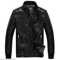 Men Leather Jacket Real Genuine Sheepskin Brand Black Male Biker Motorcycle Winter Coat Outwear Jaqueta  Asian Size M-2XL Z367
