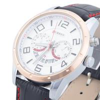 2014 Hot! CURREN Brand New Stylish And Elegant Men Belt Watch, Japanese Quartz Movement Waterproof Watch, Free Shipping