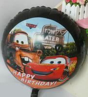 25PCS\LOT 18-inch Round Shape Cartoon Car Foil Balloon Birthday Party Balloon Wedding Decoration Balloon Kids Gift