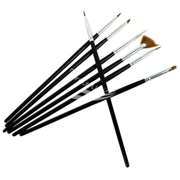 2014 Hot Sale Real Nail Art Tools 7 Pcs Nail Art Brushes Set Pen Design Painting Dotting(China (Mainland))