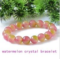 Watermelon crystal beads bead bracelet vanves crystal stone bracelet pink peach fashion jewelry women bracelet wholesale 0237