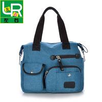 Newest 2014 Canvas Shoulder Bags for Women Solid Canvas Handbag Bulk Preppy Totes for Girls Canvas Messenger Bag Free Shipping