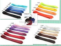 New 2014 Skinny Tie for men 5cm Solid Color Plain Necktie 100pcs/lot supply factory price