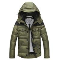New arrivals men winter jacket thickening men's winter duck down jacket coat free shipping