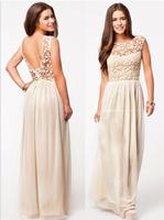 9930 Women Summer Dress 2014 White Sleeveless Top Crochet Sexy Party Dresses Chiffon Casual Women Dress Vestidos