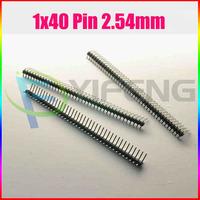 Free shipping 10pcs 1x40 Pin 2.54mm Right Angle Single Row Male Pin Header Connector