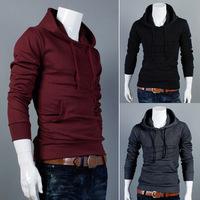 2014 Men Clothing Hitz hoodie coat jacket casual sportswear hooded Korean man hoodies sweatshirt solid color M/L/XL/XXL
