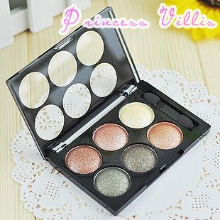 Genuine Love Alpha Alpha 6-color satin shiny pearl eyeshadow smoky makeup nude makeup wholesale earth colors(China (Mainland))