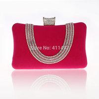 Fashionable Rhinestone Party Clutch Purse Velvet Hand bags high quality rhinestone clutch purse